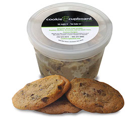 Cookie Cupboard Gourmet Dough tub with  Chocolate Chip Cookies